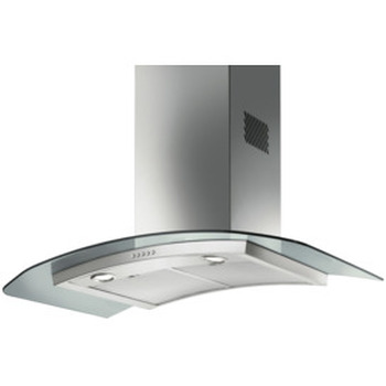 90cm Curved Glass Canopy Rangehood