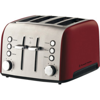 Heritage Vogue 4 Slice Toaster - Ruby Red