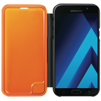 Galaxy A7 2017 Neon Flip Cover - Black