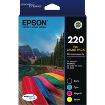 220 Std Capacity DURABrite Ultra 4 ink Value Pack