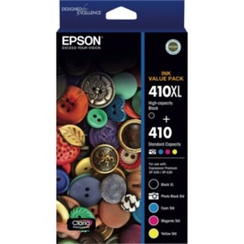 410XL 5 x colour ink Value Pack