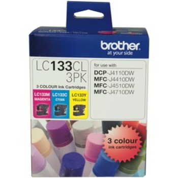LC-133 Colour Ink Cartridge 3 Pack
