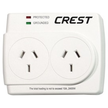 2 Outlet Power Adaptor Surge Protection
