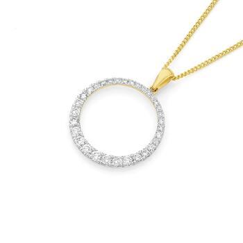 9ct Gold Diamond Circle of Love Pendant