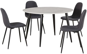 Monaco 5 Piece Dining Set with Mambo Chairs