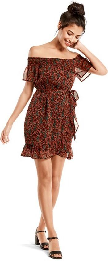 Bardot Mock Wrap Dress