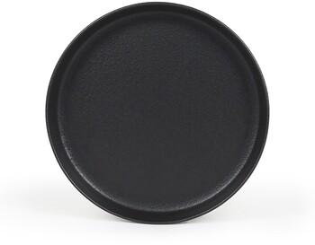 """Industry Entree Plate D22cm / H3cm D8.7"""" / H1.2"""" - Matte Black"""