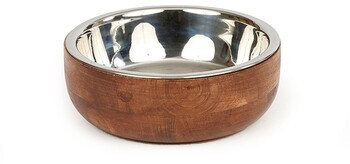 Harmony Wooden Stainless Steel Dog Bowl
