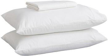 Malia 250 Thread Count King Single Sheet Set in White