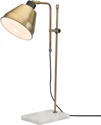 Gilberto Table Lamp in Brass & Marble