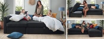 Downtown Sofa Bed with Storage Chaise#