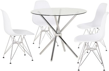 Pinto 5 Piece Dining Set with Isla Chairs