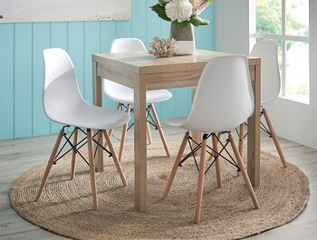 NEW Havana 5 Piece Dining Set with Replica Eames Chairs