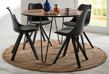 NEW Jade 5 Piece Dining Set with Dimi Chairs