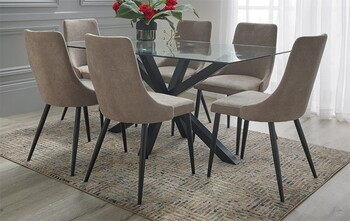 NEW Blakely 7 Piece Dining Set with Lyon Chairs