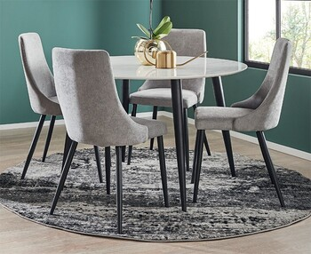 Monaco 5 Piece Dining Set with Lyon Chairs