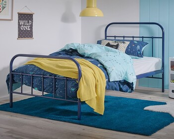 NEW Willow King Single Bed in Navy