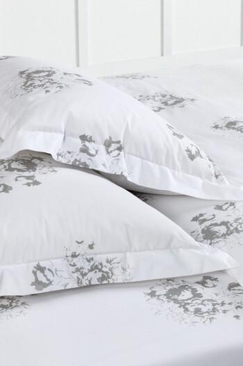 250 Thread Count Cotton Flanged Printed European Pillowcase Pair