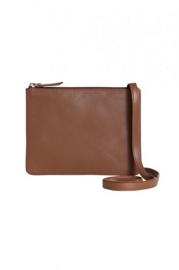 Minimalist Leather Cross Body Bag