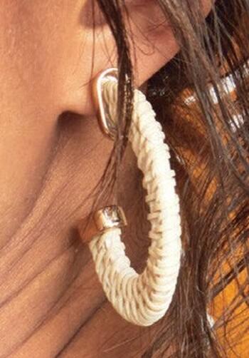 &me Rattan Hoop Earrings