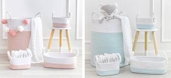 Living Textiles Nursery Storage Set & Hampers