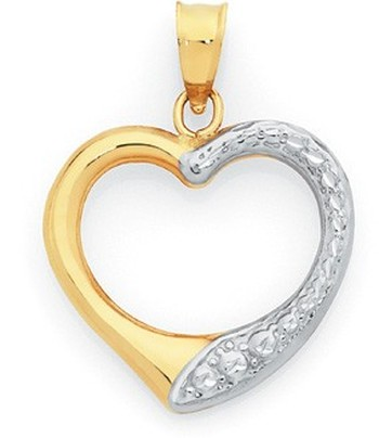 9ct Gold Two Tone Pendant