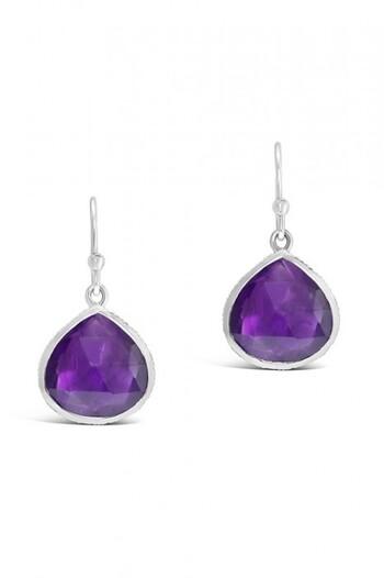 By Fairfax & Roberts Real Gemstone Single Drop Earrings