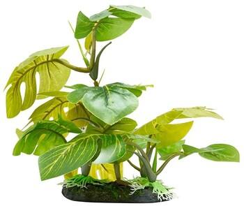 Aqua One Green Leaf On Rock Ornament (L)