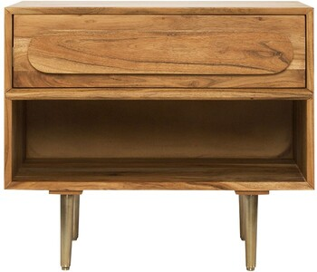 Capsule Bedside Table in Mid-Tone