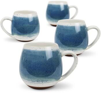 Mediterranean Hug Me Mug 4 Pack / 400ml 13.5oz - Reactive Light Blue