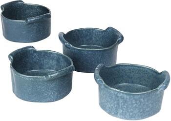"NEW Feast Round Ramekin* 4 Pack L11.5cm / W10cm / H5.5cm L4.5"" / W3.9"" / H2.2"" - Byron Blue"