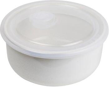 "Feast Container** (Rnd) 600ml / D16cm / H7.5cm 20.3oz / D6.3"" / H3"" - Cream"