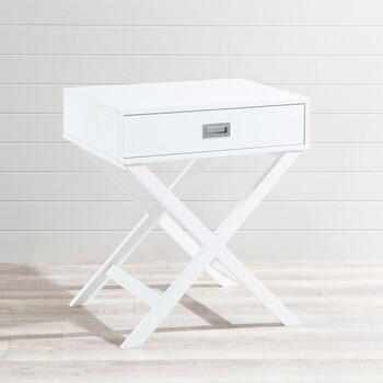 Braxton White Side Table by Habitat