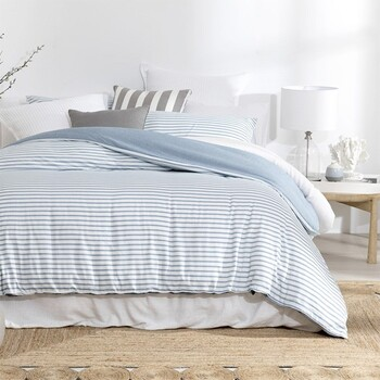 Taylor Blue Quilt Cover Set by Essentials