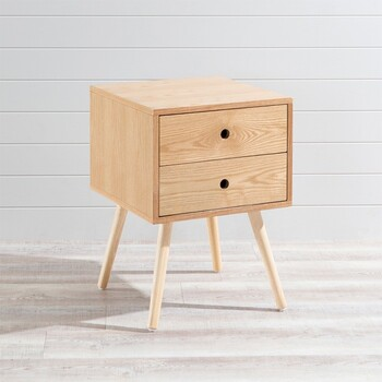 Kent Natural Bedside Table by Aspire