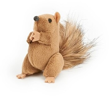 Harmony Woodlands Plush Squirrel Cat Toy