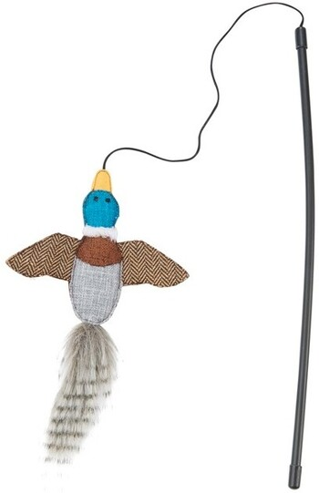 Harmony Woodlands Bird Teaser Cat Toy Multi