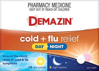 Demazin Cold + Flu Relief Day + Night 24 Tablets
