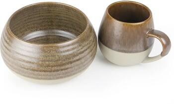 Morning Hugs Mug & Bowl 400ml / 1L 13.5oz / 33.8oz - Toffee