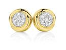 9ct-Gold-Diamond-Cluster-Stud-Earrings Sale