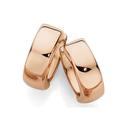 9ct-Rose-Gold-Plain-Huggie-Earrings Sale