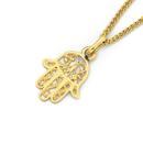 9ct-Gold-Filigree-Hamsa-Hand-Charm Sale