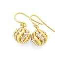9ct-Gold-Two-Tone-12mm-Spinning-Ball-Earrings Sale