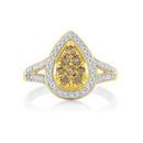 9ct-Gold-Champagne-Diamond-Dress-Ring Sale