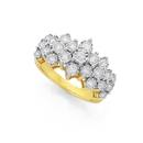 9ct-Gold-Diamond-Large-Cluster-Band Sale