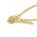 9ct-Gold-19cm-Solid-Belcher-Diamond-Padlock-Bracelet Sale