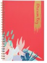 Coral-A5-Spiral-Notebook-120-Pages Sale
