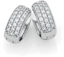 Sterling-Silver-Pave-CZ-Huggie-Earrings Sale