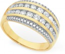 9ct-Gold-Diamond-Wide-Dress-Band-Ring Sale