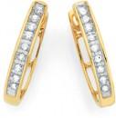 9ct-Gold-Diamond-Huggie-Earrings Sale